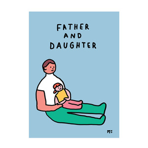 BOOK 아빠와 딸 Father and daughter